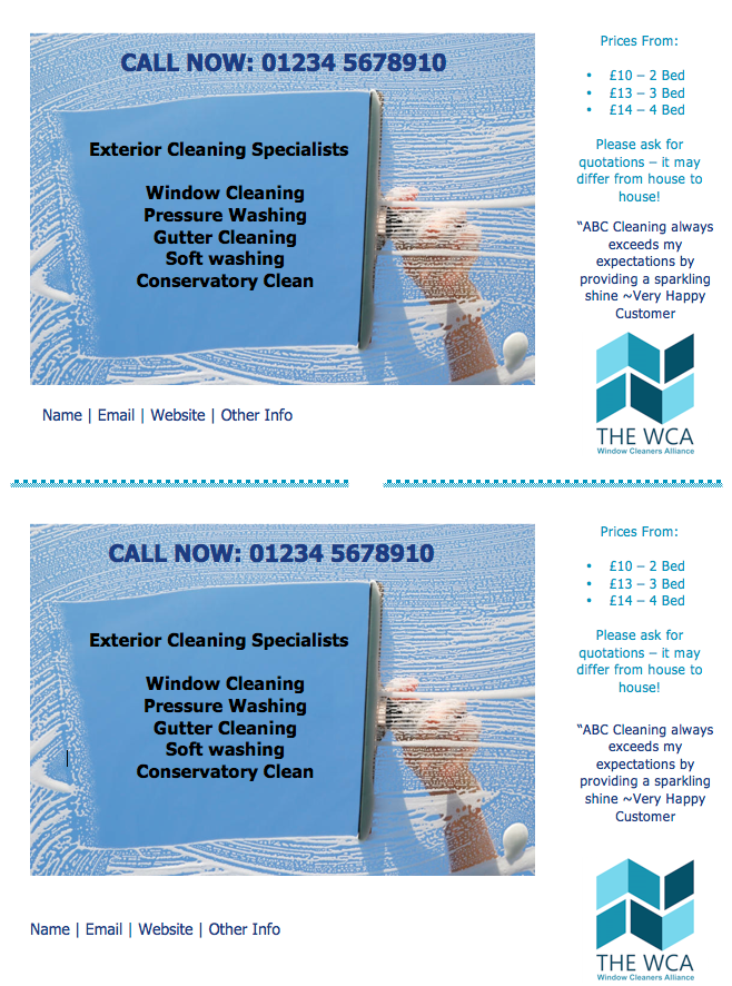 flyer double page editable word flyer the wca